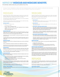 Notice of Medicaid and Medicare Benefits Poster