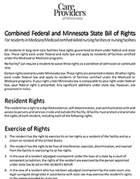 Resident Bill of Rights Booklet with Signature Page (SNF/NF)