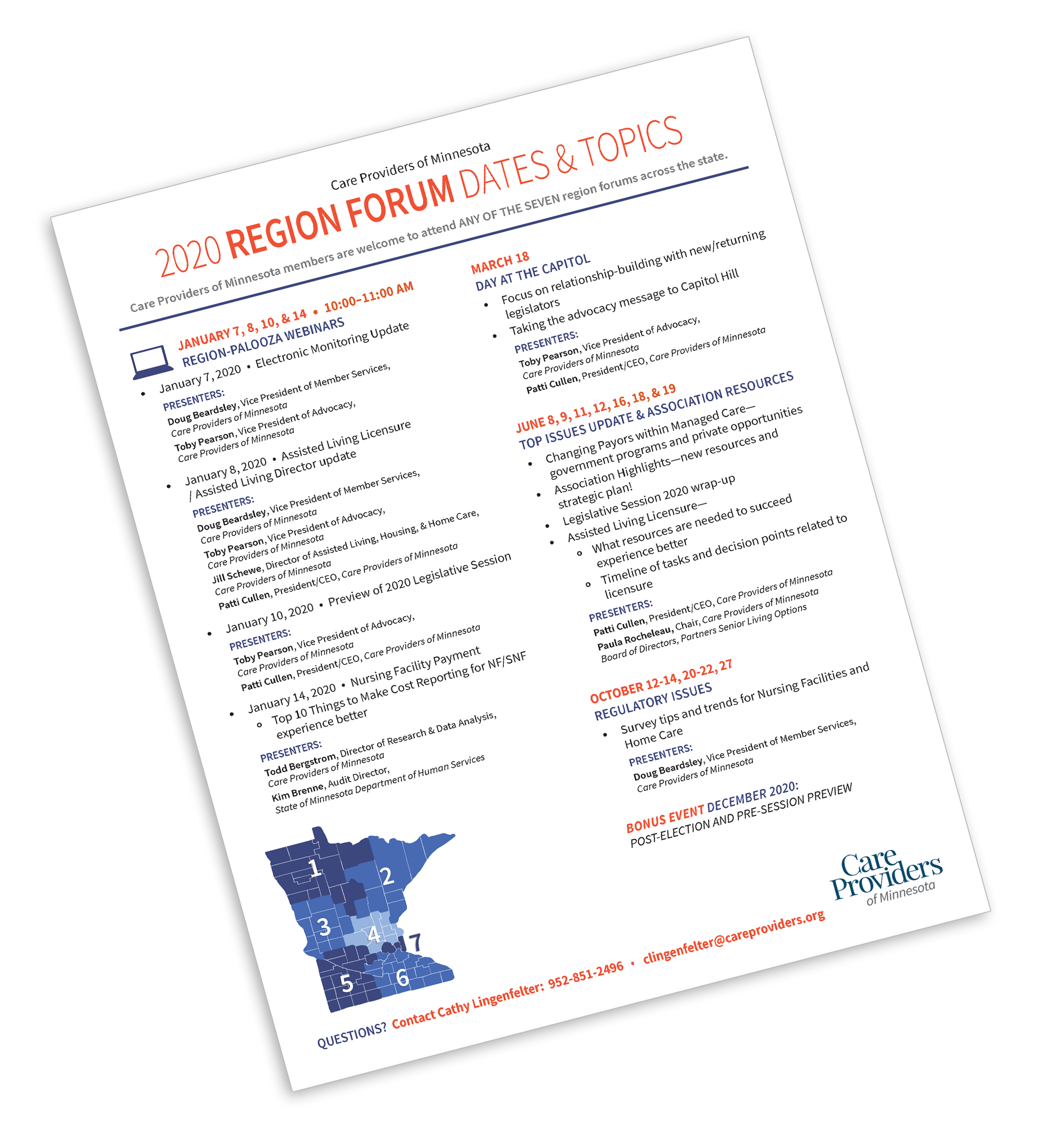 2020 Region Forum Flyer