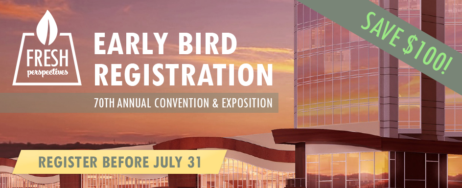 Save $100 on your Convention registration--click here for Early Bird information