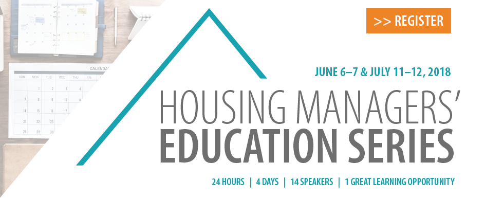 Housing Managers' Education Series 2018