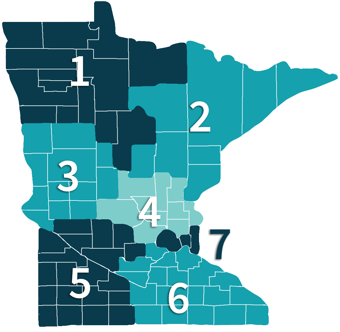 Care Providers of Minnesota Regions Map